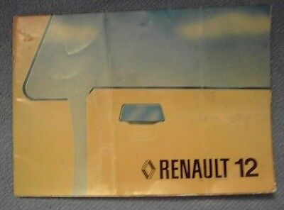 RENAULT 12 DRIVING AND MAINTENANCE MANUAL (1979)
