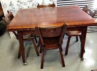447: 5 PC Vintage Chalet Style Kitchen Set, Solid Pine $300