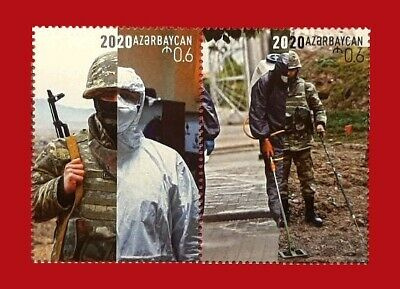 Azerbaijan 2020 * KARABAKH * Fight against Corona * Lot of 2 Stamps * MNH