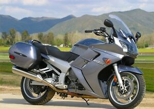Mint condition Yamaha FJR 1300 for sale by new Dad
