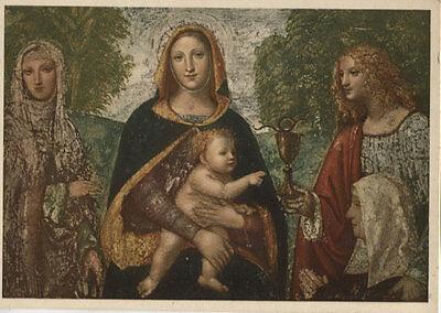 Alte Kunstpostkarte - E. Santi - La Madonna col Bambino