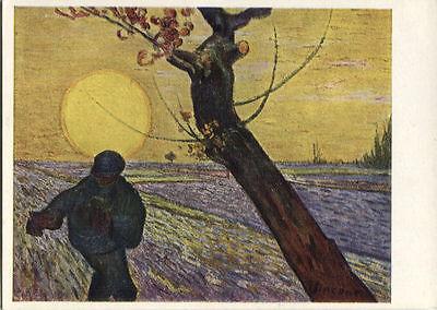 Alte Kunstpostkarte - Der Sämann von Vincent van Gogh