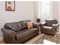 Leather Sofa & Armchair for Sale