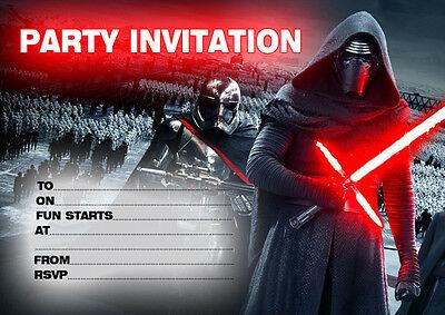 10 x STAR WARS Birthday Party Invitations