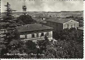 1954 vecchia cartolina bagni di casciana hotel roma