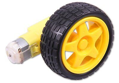Smart Car Robot Plastic Tire Wheel With Dc 3-6v Gear Motor For Robot 6527mm