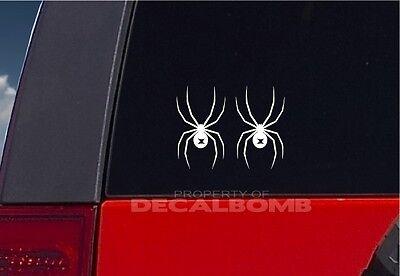 2  Black Widow Spider Vinyl Decals Stickers Insect Bite Wildlife 5 5  X 3 2