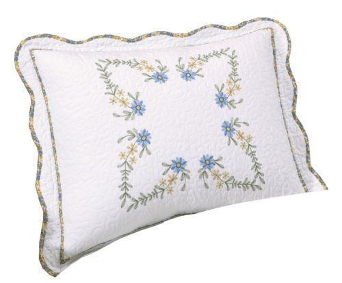 standard quilted pillow sham ebay. Black Bedroom Furniture Sets. Home Design Ideas