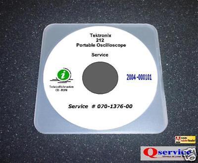 Tektronix Tek 212 Oscilloscope Service Manual With Complete 17x11 Diagrams Cd