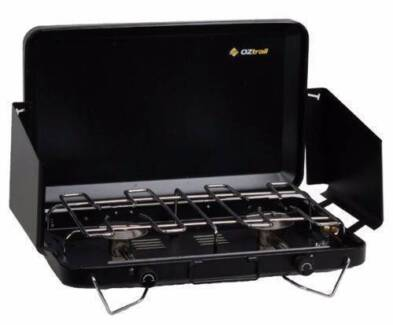 OZTRAIL 2 BURNER STOVE GAS CAMPING