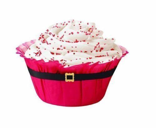 Santa Belt Ruffled Christmas Baking Cups 12 ct from Wilton 1823 NEW