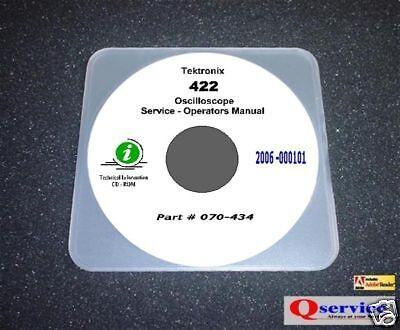 Tektronix Tek 422 Oscilloscope Service Manual With Complete 17x11 Diagrams Cd