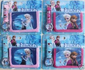 Frozen Watch Wristwatch Purse Childrens Girls Gift Party Elsa Anna set birthday