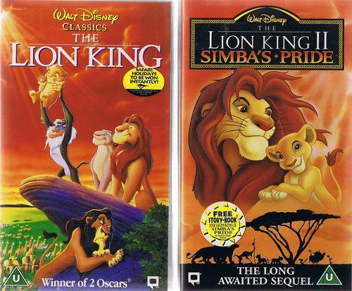 lion king video  vhs tapes