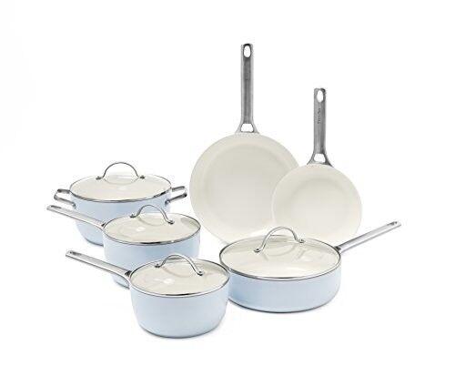 padova ceramic non stick 10pc cookware set