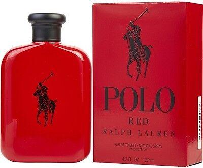 Polo Red By Ralph Lauren 4 2Oz   125Ml For Men Eau De Toilette 4 2 Oz Brand New