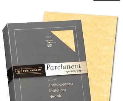 Gold Parchment Paper - INVITATION CERTIFICATE PARCHMENT PAPER, GOLD, 50 SHEETS, 24 LB, CALLIGRAPHY