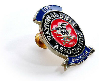 National Rifle Association Life Member - NRA Life Brass Lapel Pin