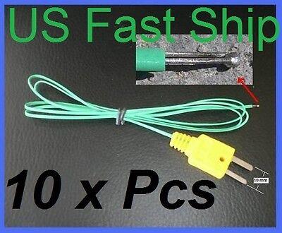 10 Type K Fine Wire Thermocouple Hvac Temperature Tc Probe Sensor Fast Response