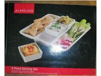 Lakeland Porcelain 4-Piece Serving Set, NEW and unused