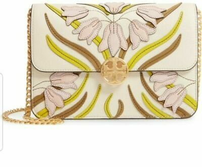 Tory Burch $428 Chelsea Applique Mini Shoulder Bag Pink Meridian NWT!