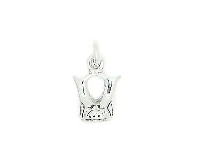 SILVER 3D AMERICAN INDIAN OLD POTTERY WEDDING VASE CHARM OR PENDANT