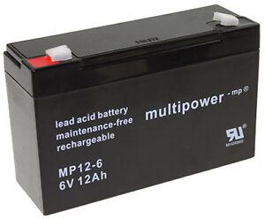 MULTIPOWER-Batteria-al-piombo-mp12-6-6V-12AH-NP12-6-LC-R0612P1-np12-6t-S306-12sr