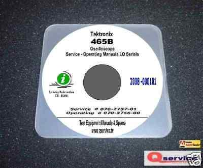Tektronix 465b Oscilloscope Lo Serials Service Ops Manual 17x11 Diagrams Cd