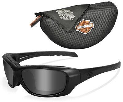 "Wiley X Harley-Davidson GRAVITY ""Black Ops"" Matte Black Frame, Smoke Grey Lenses"