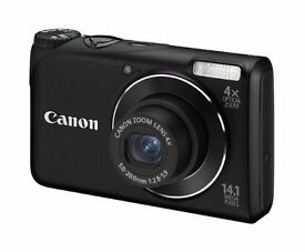 Canon PowerShot A2200 Digital Camera - Black (14.1 Megapixel, 4x Optical Zoom, 2.7 inch LCD)