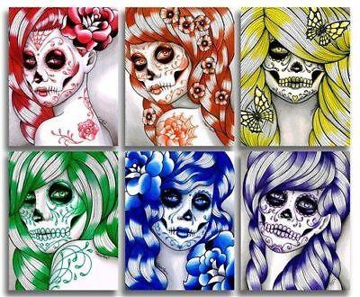 20 water slide nail decals DIY Manicure 6 different sugar skull women (Sugar Skull Nails)