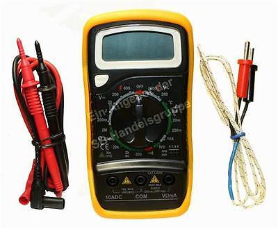 Digital Multimeter Spannungsmesser Messgerät mit Messspitzen & Temperaturfühler