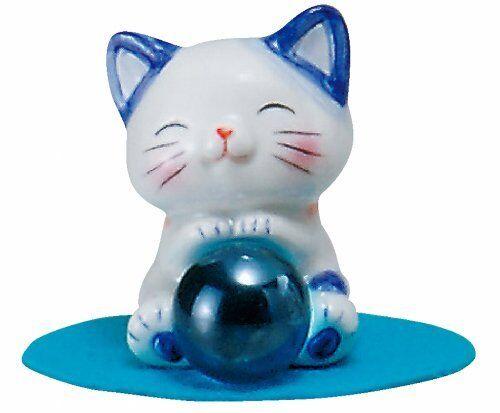 ya0809 Maneki Neko Happy Fortune Cat Angel Blue illness recovery kawaii Wish