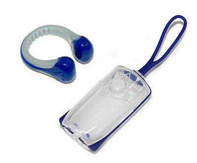- Aqua Sphere Silicone Swimming Nose Clip & Case Swim Clip - Navy/Grey One Size