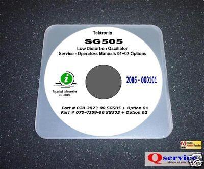 Tektronix Sg505 Audio Generator Options 0102 Hi Resolution 17x11 Diagrams Cd