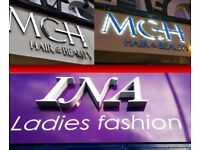 Shop Signs, 3D Signs, Sign Trays, LED Signs, CNC Cutting Service, Design, 2D-3D modelling, Aluminium