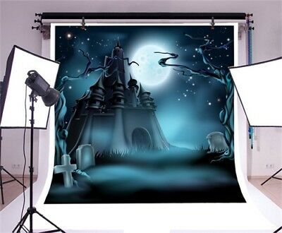 Spooky Halloween Castle Photo Backdrop Event Portrait Photo Studio Background ](Halloween Portrait Backgrounds)