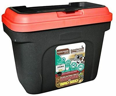 NEW STORAGE CONTAINER DRY DOG CAT PET FOOD 19L GREEN BIN BOX WITH SCOOP