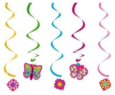 Butterfly Sparkle Dizzy Danglers Hanging Party Decorations Birthday Girls Boys](Butterfly Party Decor)