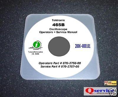Tektronix 465b Oscilloscope Hi Serials Service Ops Manuals 17x11 Diagrams Cd