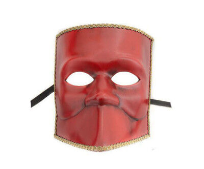 Mask from Venice Bauta Red - Mask Venetian Authentic 347