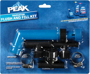 Peak Radiator Anti-Freeze Coolant Flush Fill Kit PKF0AA Deflector Hose Cla.