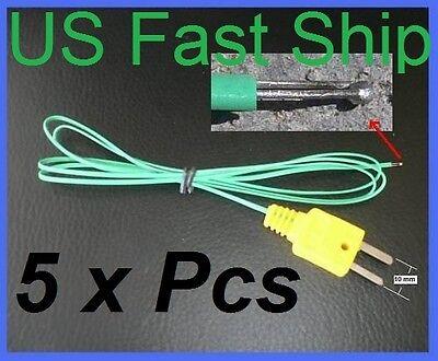 5 X Type K Thermocouple Fine Wire Probe Digital Thermometer Quick Response Hvac