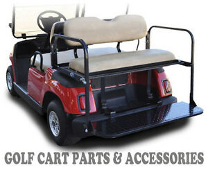 Yamaha g16 22 golf cart rear flip seat kit 1995 2006 tan for Advanced motors and drives golf cart