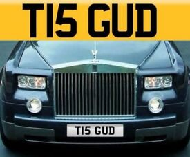 Cherished Number Plate T15 GUD - Good Registration / Private Plate - Personalised TIS GUD