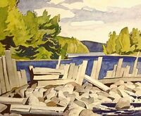 "A.J. Casson ""Old Dam"" Lithograph - Appraised at $650"