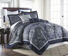 Silver Floral Comforter Sets