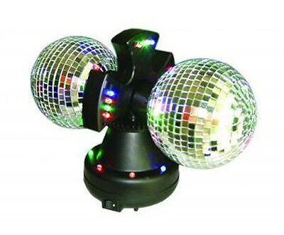 Twin Mirror Rotating Disco Ball DJ Party LED Light Lamp](Led Mirror Ball)