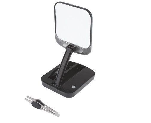 lighted travel makeup mirror ebay. Black Bedroom Furniture Sets. Home Design Ideas
