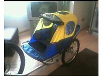 Twin Seated Child Bike Trailer